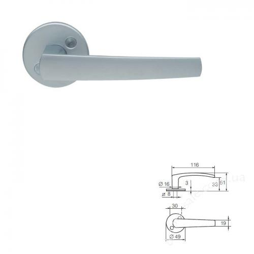 Ручка ABLOY 16/001 Zn/MCR